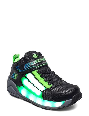 Skechers Boys Light Storm Matalavartiset Sneakerit Tennarit Musta Skechers BKLM BLACK LIME
