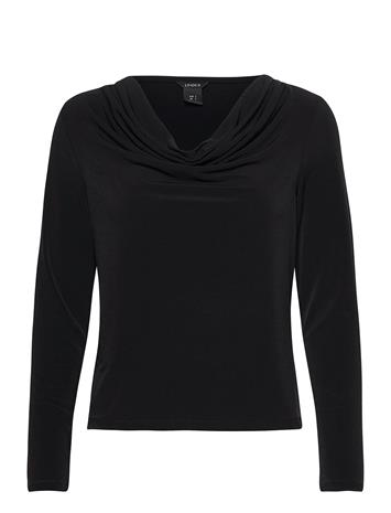 Lindex Top Josephine T-shirts & Tops Long-sleeved Musta Lindex BLACK