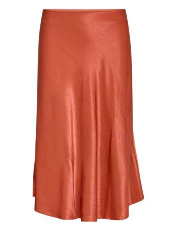MOSS COPENHAGEN Estella Skirt Polvipituinen Hame Oranssi MOSS COPENHAGEN BARN RED