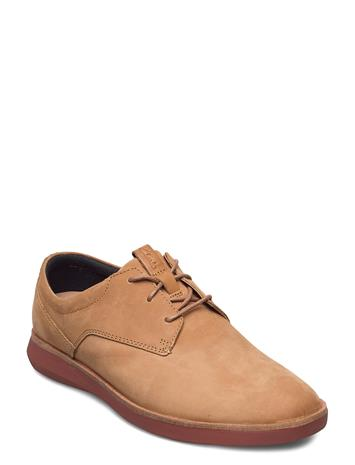 Clarks Banwell Lace Shoes Business Laced Shoes Ruskea Clarks LIGHT TAN NUBUCK
