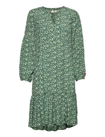 ODD MOLLY Aria Dress Polvipituinen Mekko Vihreä ODD MOLLY MIDNIGHT GREEN