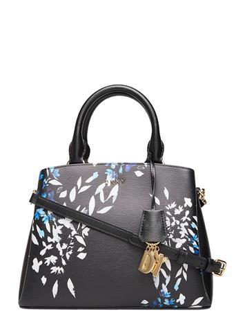 DKNY Bags Paige-Md Satchel Flo Bags Top Handle Bags Musta DKNY Bags BLK MULTI