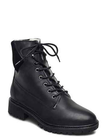 Bianco Biacheryl Winter Warm Boot Shoes Boots Ankle Boots Ankle Boot - Flat Musta Bianco BLACK