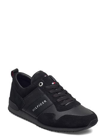 Tommy Hilfiger Iconic Leather Suede Mix Runner Matalavartiset Sneakerit Tennarit Musta Tommy Hilfiger BLACK