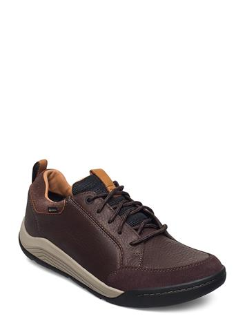 Clarks Ashcombebaygtx Shoes Business Laced Shoes Ruskea Clarks DARK BROWN LEA
