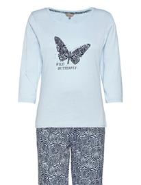 Decoy Decoy Py W/Print And Studs Pyjama Sininen Decoy LIGHT BLUE