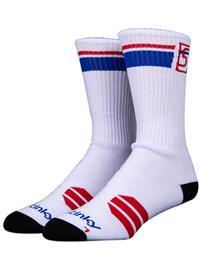 Stinky Socks Starter Skate Socks white / red / blue Miehet