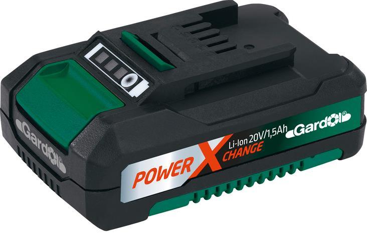 Gardol Power X-Change 20V 1,5Ah Li-Ion, työkaluakku