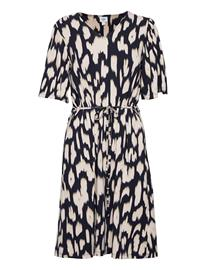 Saint Tropez Camsz Jersey Dress Polvipituinen Mekko Sininen Saint Tropez BLUE DEEP ANIMAL SKIN