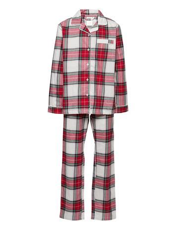 Lindex Pajama Uni Bk Xmas Plaid Giftw Pyjamasetti Pyjama Punainen Lindex RED