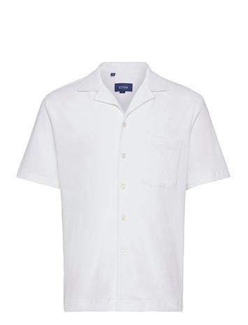 Eton Terry Fit White Jersey/Terry Shirt Lyhythihainen Paita Valkoinen Eton WHITE