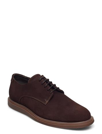 Matinique Mazkenzie Suede Shoes Business Laced Shoes Ruskea Matinique DARK BROWN