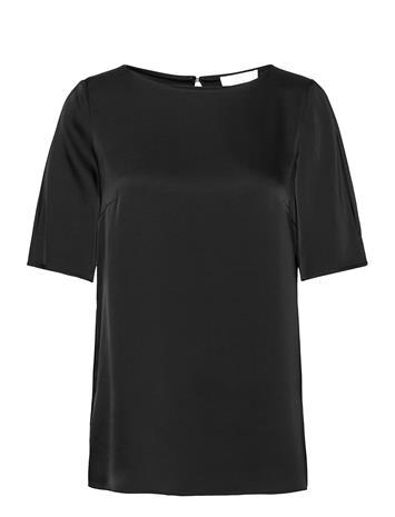 BOSS Isatina Blouses Short-sleeved Musta BOSS BLACK