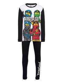 Lindex Pajama Sb Ninjago Pyjamasetti Pyjama Musta Lindex BLACK