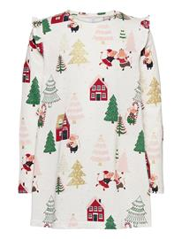 Lindex Top Long Christmas Ao Print T-shirts Long-sleeved T-shirts Valkoinen Lindex WHITE