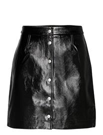 Calvin Klein Jeans High Shine Mini Skirt Lyhyt Hame Musta Calvin Klein Jeans CK BLACK