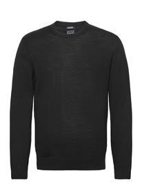 GAP Merino Crewneck Sweater Neulepaita Pyöreä Kaula-aukko Musta GAP TRUE BLACK