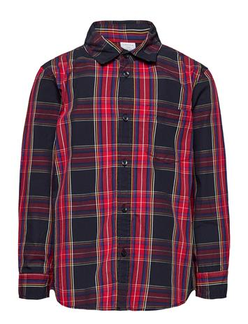 Lindex Shirt Check Party Checks Paita Sininen Lindex DARK NAVY