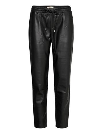 EDC by Esprit Pants Woven Leather Leggings/Housut Musta EDC By Esprit BLACK
