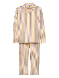 Becksöndergaard Stripe Pyjamas Set Pyjama Monivärinen/Kuvioitu Becksöndergaard MULTI COL.