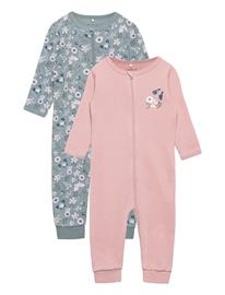 name it Nbfnightsuit 2p Zip Pale Mauve Pyjama Sie Jumpsuit Haalari Vaaleanpunainen Name It PALE MAUVE