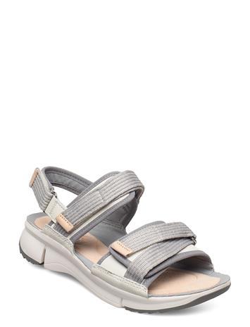 Clarks Tri Walk Shoes Summer Shoes Flat Sandals Valkoinen Clarks WHITE COMBI