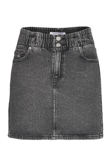 Calvin Klein Jeans High Rise Mini Skirt Lyhyt Hame Harmaa Calvin Klein Jeans DENIM GREY
