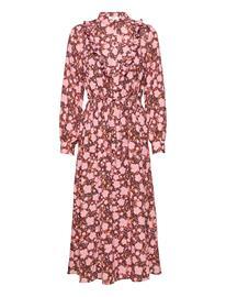 MOSS COPENHAGEN Frix Maxi Dress Aop Polvipituinen Mekko Vaaleanpunainen MOSS COPENHAGEN BLUSH FLOWER