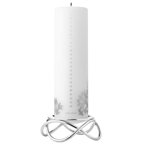 Georg Jensen Georg Jensen-Glow Candle Holder and Calendar Candle 2020, Mirror-polished Steel