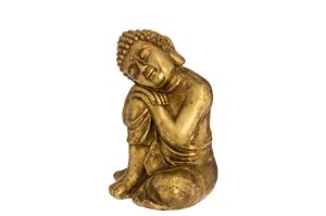 4Living Buddha istuva 30cm kultainen koriste