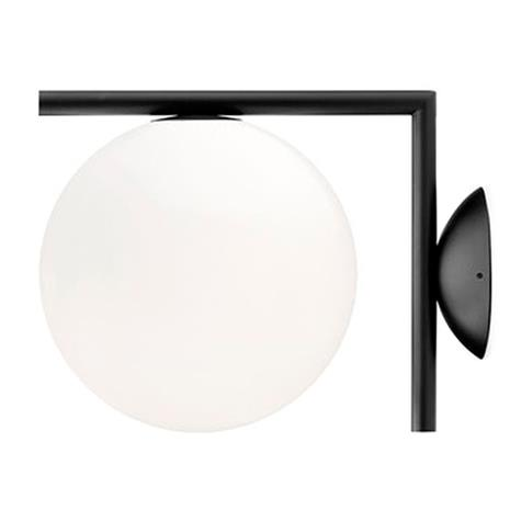 Flos IC C/W1 seinä-/ kattovalaisin, musta