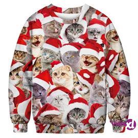 INF Joulupusero kissojen kanssa - XL