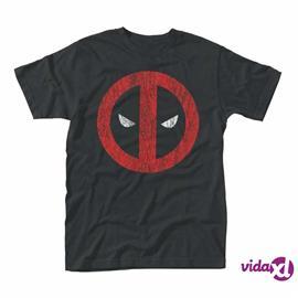 Deadpool Marvel Cracked Logo T-Paita