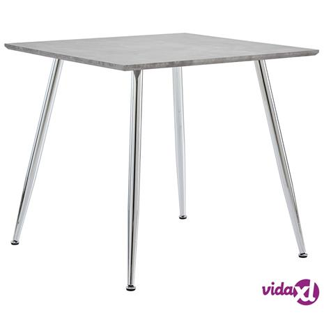 vidaXL Ruokapöytä betoni ja hopea 80,5x80,5x73 cm MDF