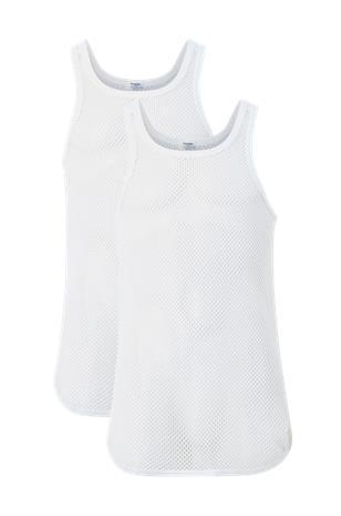 Resteröds Hihattomat paidat Net Singlet Cotton, 2/pakk.