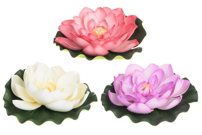 4Living Lotus Kukka kelluva 21cm koriste