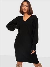 Pieces Pcpam Ls V-Neck Knit Dress Bc Black