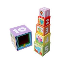 Little Bright Ones - 10 Stacking Cubes - Safri (5537)
