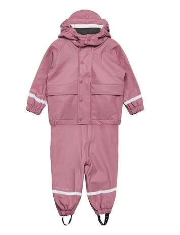Hust & Claire Rain Overall Set Outerwear Rainwear Sets & Coveralls Punainen Hust & Claire BABY PLUM