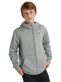 Burton Oak Zip Hoodie gray heather Jätkät