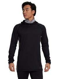 Burton Midweight X Long Neck Hooded Tech Tee LS trublk / gryhtr Miehet