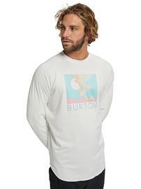 Burton Roadie Tech Tee LS stout white Miehet