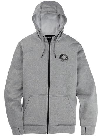 Burton Oak Fleece Zip Hoodie gray heather Miehet