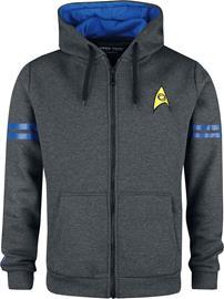 Star Trek - Vulcan Lieutenant - Vetoketjuhuppari - Miehet - Antrasiittisekoitus