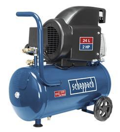 Scheppach HC26 (5906135901) 24L, öljyvoideltu ilmakompressori