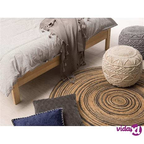 Beliani Pyöreä matto musta/beige 140cm ARTORA