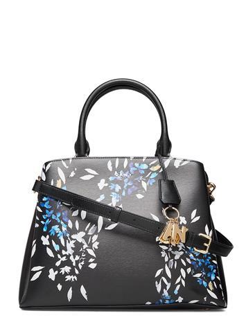 DKNY Bags Paige-Lg Satchel Flo Bags Top Handle Bags Musta DKNY Bags BLK MULTI