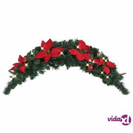 vidaXL Joulukaari LED-valoilla vihreä 90 cm PVC