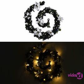 vidaXL Jouluköynnös LED-valoilla musta 2,7 m PVC