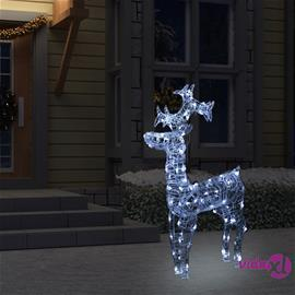 vidaXL Poro joulukoriste 90 LED-valoa 60x16x100 cm akryyli